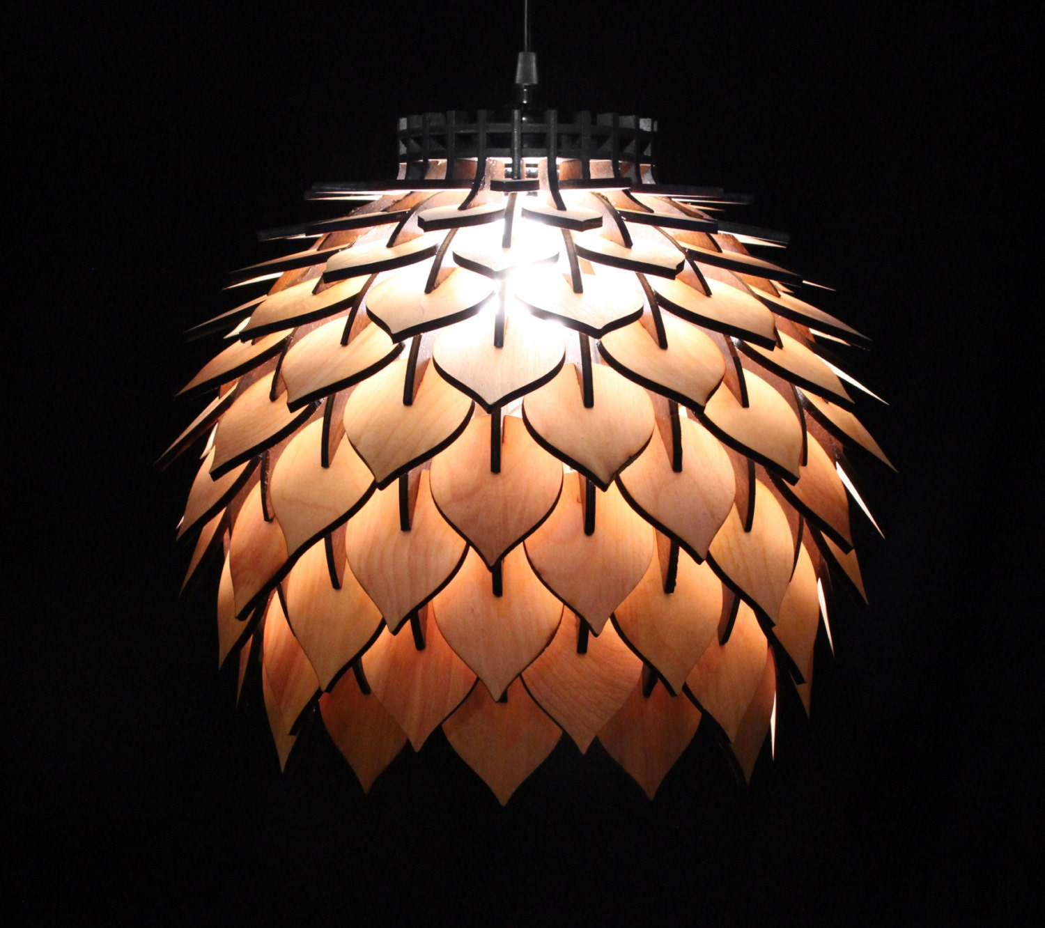 Hanging Lamp Design: Spore Lamp Laser Cut Pendant Lamp Lighting