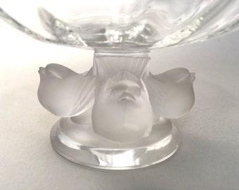 Lalique Crystal Bowl - Nogent Bowl - Lalique Crystal - Bowl with Birds