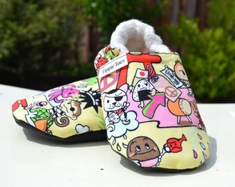 Kawaii shoes, Hawaii shoes, baby slippers, toddler shoes, Hawaii baby, first birthday luau, non slip shoes, japanese baby