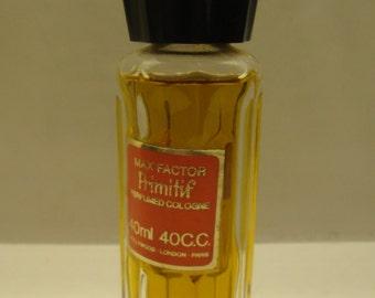 Vintage Max Factor Primitif  Perfumed Cologne Bottle 40ml