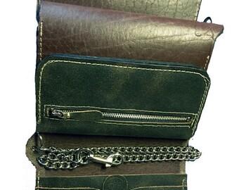 Biker wallet with chain