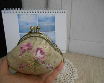 Double Frame Kisslock Bag Coin Purse