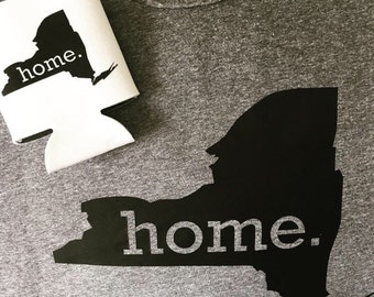 New York Home Tshirt and Beer Holder Set