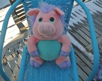 Vintage 1986 Wuzzles Piggypine Stuffed Plush Disney Hasbro