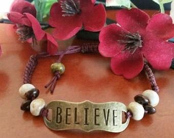 Owyhee Jasper Corded Brass Bracelet