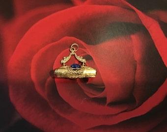 18k gold purse charm pendant