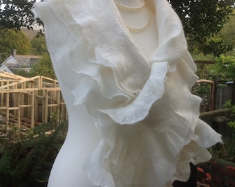 OOAK Finest Silk and Merino Wedding Shawl