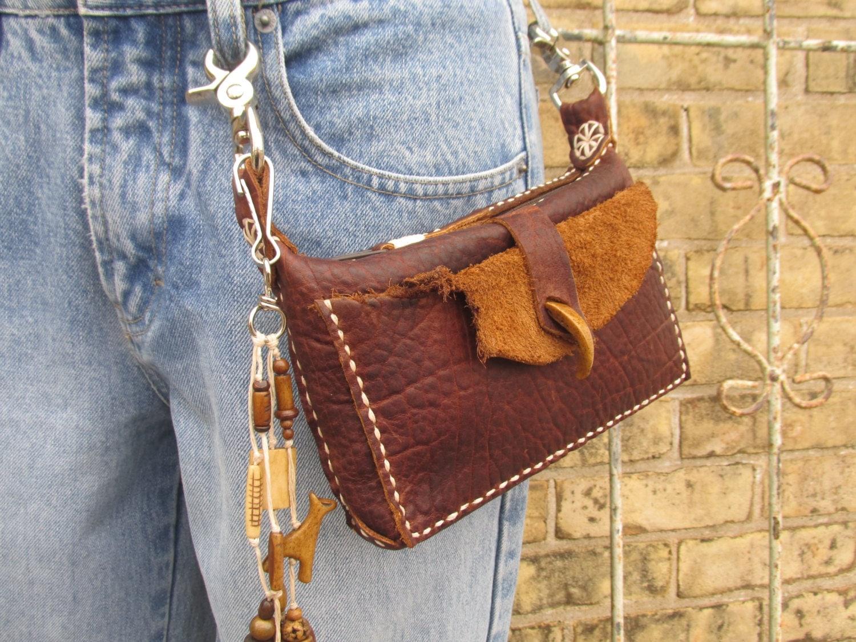 Original Leather Hip Bag Women39s Black Clip On Hip Purse Waist