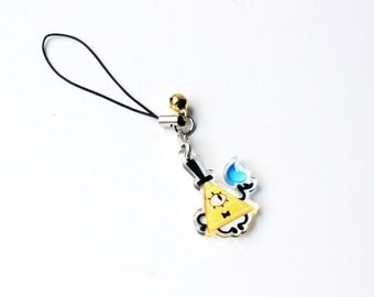 """Gravity Falls Bill Cipher 1"""" Mini Acrylic Charm with Phone Strap (Double Sided Front & Back)"""