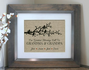 Grandparent's Day Gift | Mother's Day Gift | Personalized GRANDPARENTS Gift for Grandma | Gift for Grandpa | My Greatest Blessings