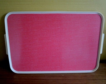 Vintage 50s 60s Red Tray