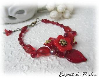 Red designer bracelet Strawberry Candice,