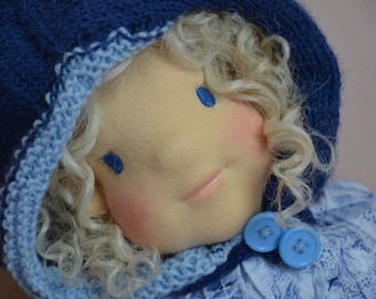SALLY soft sculpture doll face waldorf inspiration