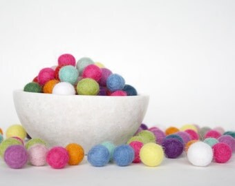 1 cm Wool Felt Balls - Pick Your Own Colors