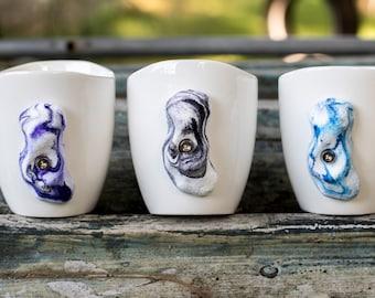 Rock Climbing Mug  Set of 3 (swirls)