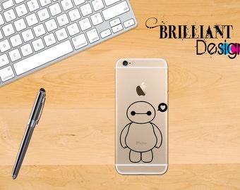 Big Hero 6, Baymax, BayMax decal ,Baymax sticker, Baymax iPhone 6 Decal, iPhone, iPhone 6s, iPhone 6s Plus, Gift, For her,For him, geekery
