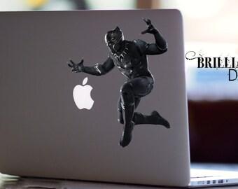 Black Panther, Black Panther Macbook Decal, Black Panther Sticker, Black panther, Civil War, Skin, MacBook Pro Decal, Marvel Comics Decal