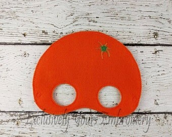Orange Children's Felt Mask  - Costume - Theater - Dress Up - Halloween - Face Mask - Pretend Play - Party Favor