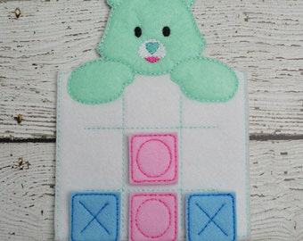 Friendly Bear Tic Tac Toe Game