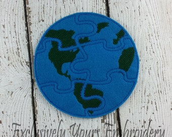 Earth Puzzle w/Storage Pouch, Quiet Game, Toddler Toy, Travel Toy, Party Favor
