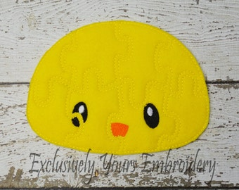 READY TO SHIP Chick Puzzle w/Storage Pouch, Quiet Game, Toddler Toy, Travel Toy, Party Favor