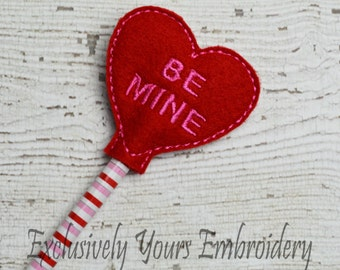 Be Mine Heart Pencil Toppers - Party Favor - Valentine - Classroom Prizes - I Love You - Be Mine - Happy V-Day - Small Gift - Back to School
