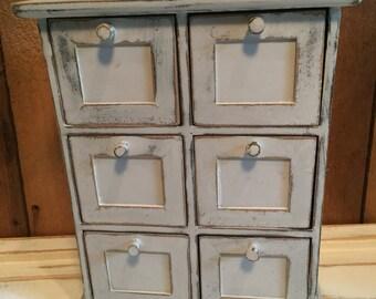 Shabby Chic Storage, Wood Drawer Storage, Distressed Jewelry Box, Desk Organization, Bath Storage, Cubby Storage, Nursery Decor