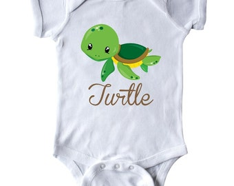 Little Turtle Infant Creeper by Inktastic