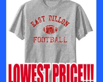 East Dillon Football Distressed worn out look. Friday Night Lights Heather Gray T-Shirts