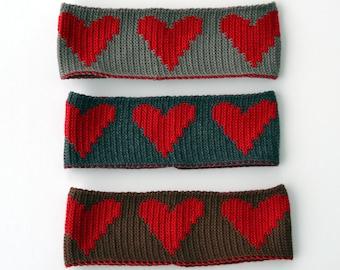 Merino Headband with Hearts