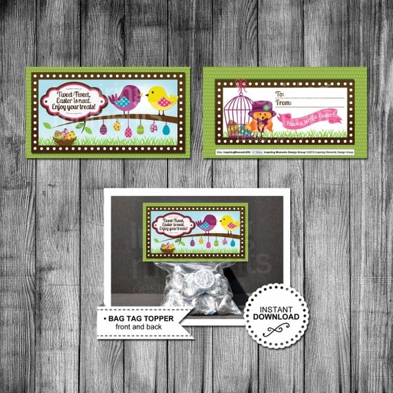 Printable easter bird treat bag toppers candy goodie bag printable easter bird treat bag toppers candy goodie bag favor tags printable easter classroom gift download easter birds negle Choice Image