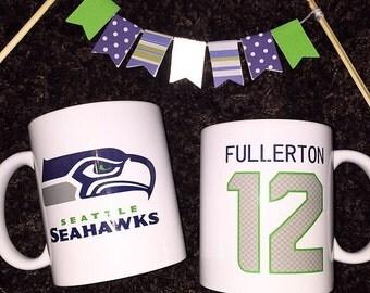 Seahawks Fan Printed Mug 12 FAN Seattle Hawks