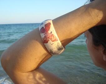 Butterfy Bracelet, Butterfies Bracelet,Butterfies Bangle,Wooden Decoupage Bracelet,Decoupage Bracelet, Ξύλινο Βραχιόλι