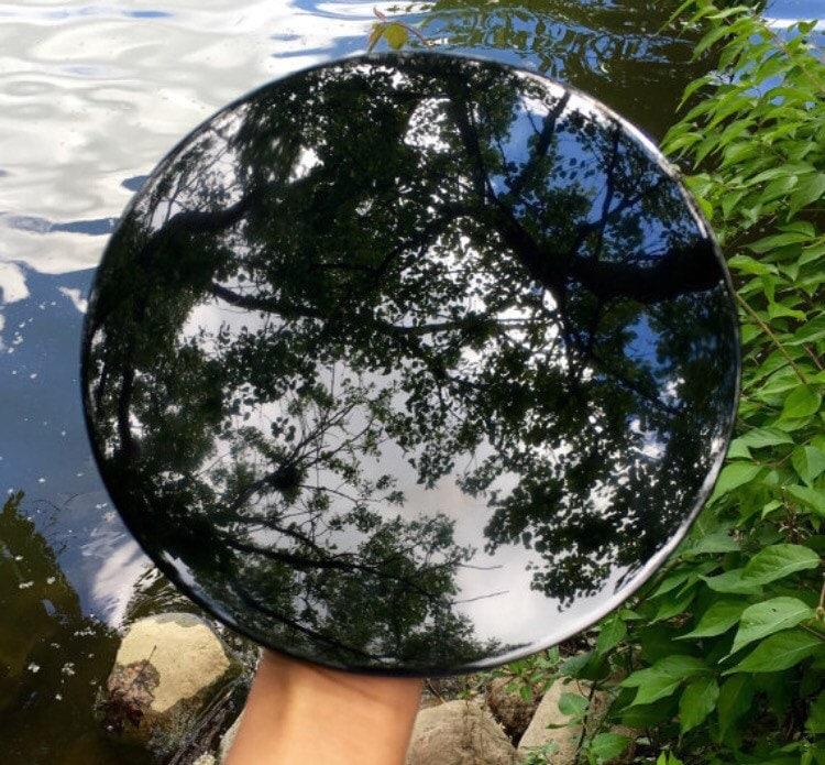 8 0 Black Obsidian Mirror