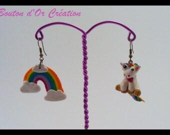 Unicorn Rainbow earrings