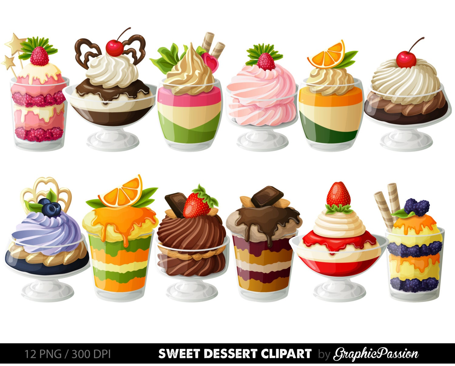 Desserts digital clipart cake clip art sweet treat digital for Kuchen design programm