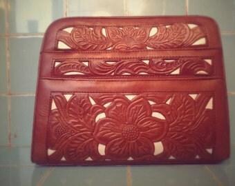 Beautiful Handmade Tooled Leather Purse
