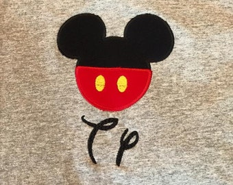 Mickey  applique personalized shirt.