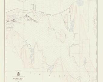 Great Sodus Bay - New York - Lake Ontario Historical Map 1940