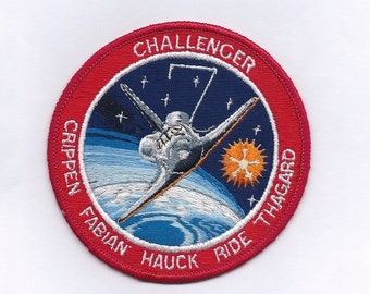 Vintage Challenger Sally Ride Space Shuttle Mission Patch
