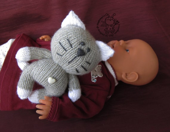 Amigurumi Kitten Patterns : Toy for sleep kitten for small babies amigurumi kitten instant