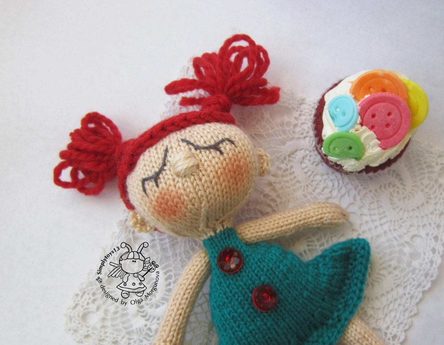 Sheep Amigurumi Crochet Pattern : Toy for sleep. Doll for small babies- knitting pattern ...