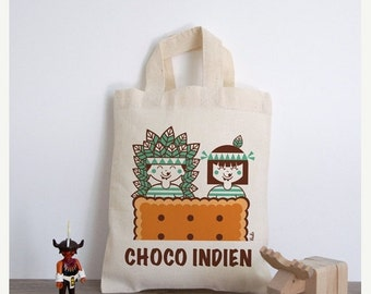 Tote Indians (bag choco Indian cotton)