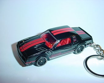 3D 1985 Chevrolet Monte Carlo SS custom keychain by Brian Thornton keyring key chain finished in black