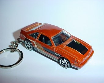 3D 1992 Ford Mustang GT custom keychain by Brian Thornton keyring key chain finished in copper color trim diecast metal body
