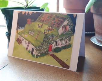 Green Roof greeting card