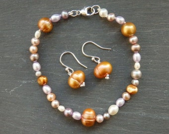 Summer Pearls, Freshwater Pearl Jewellery, Pearl Bracelet, Pearl Earrings