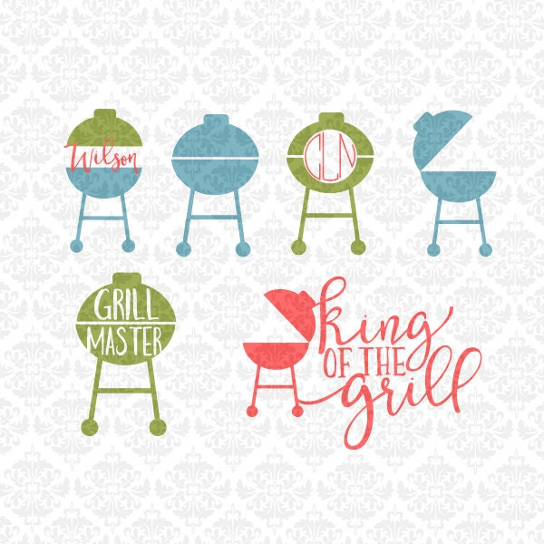 Grilling Grill Master King Of The Grill Father S Day Svg