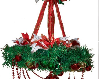 Christmas Chandelier - RED