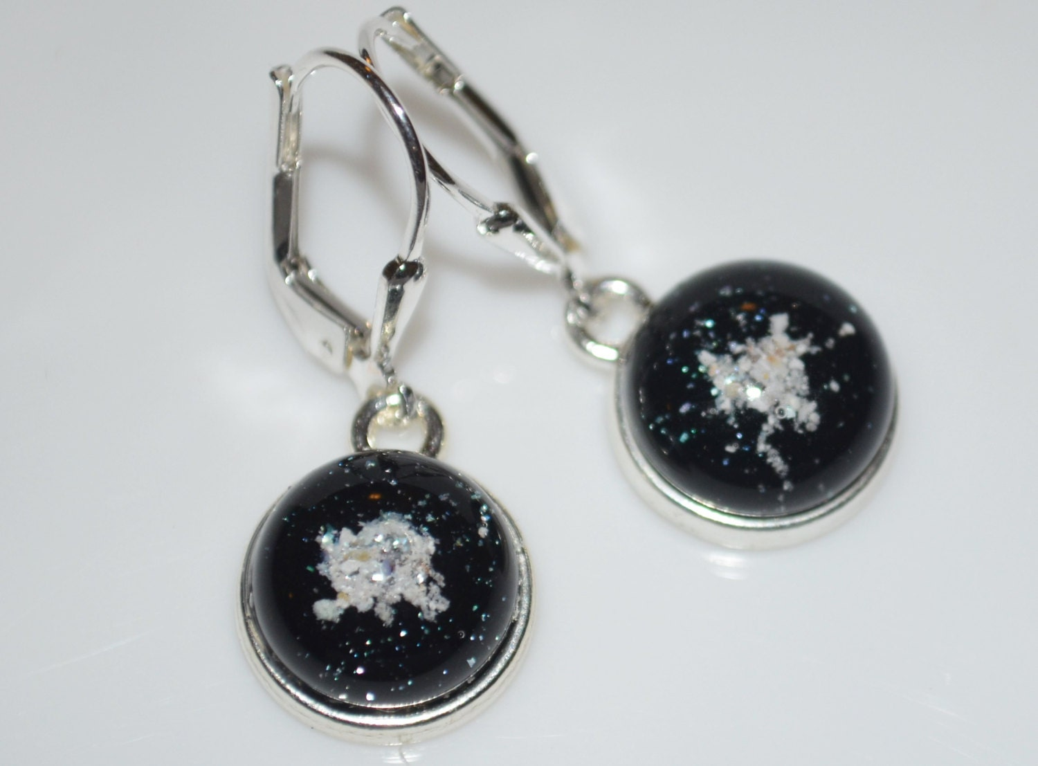 Pet cremation jewelry earrings fused glass by for Cremation jewelry for pets ashes